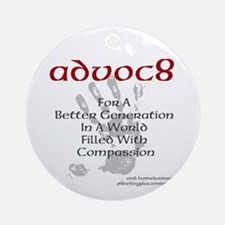 Advoc8 Ornament (Round)