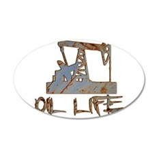Oil Life Pumpjack Rusty Metal Wall Decal