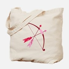 Cupid Bow And Arrow Tote Bag