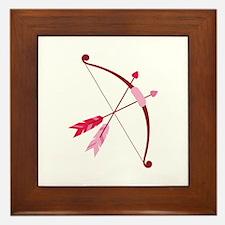 Cupid Bow And Arrow Framed Tile