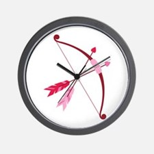 Cupid Bow And Arrow Wall Clock