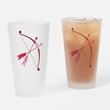 Cupid Bow And Arrow Drinking Glass