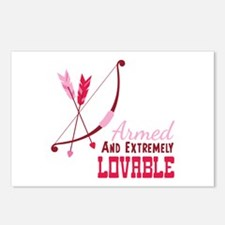 Armed AND EXTREMELY LOVABLE Postcards (Package of