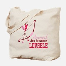 Armed AND EXTREMELY LOVABLE Tote Bag