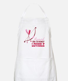 Armed AND EXTREMELY LOVABLE Apron