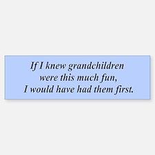 If I knew grandchildren... Bumper Car Car Sticker