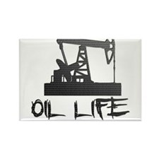 Honeycomb Oil Life Pumpjack Magnets