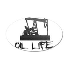 Honeycomb Oil Life Pumpjack Wall Decal