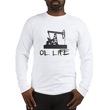 Honeycomb Oil Life Pumpjack Long Sleeve T-Shirt