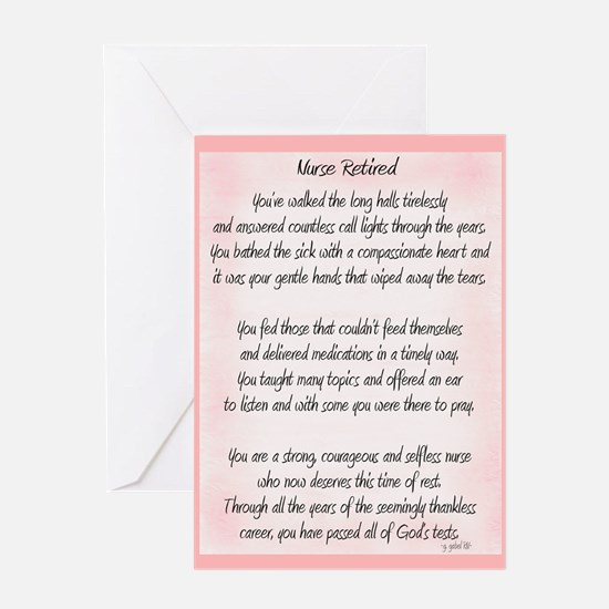 Nurse Retired Poem Greeting Cards