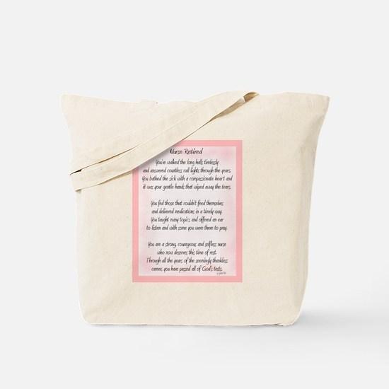 Nurse Retired Poem Tote Bag