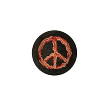 Peace of Bacon Mini Button