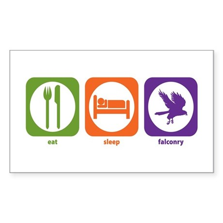 Eat Sleep Falconry Rectangle Sticker