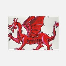 Red Dragon Passant Magnets