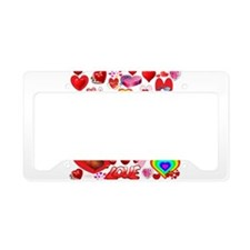 Loving Hearts Collage License Plate Holder