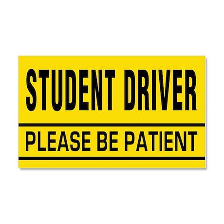 Student Driver - Be Patient Car Magnet 20 X 12