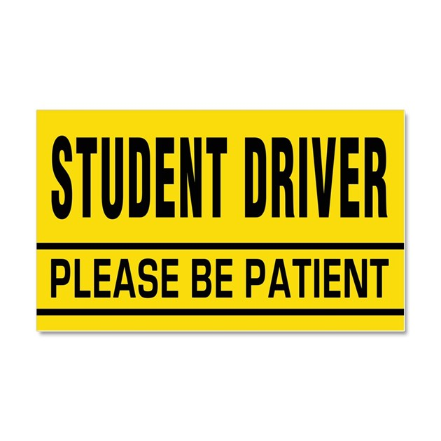 It is an image of Bright Student Driver Sign Printable