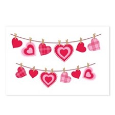 Doily Hearts Clothes Line Postcards (Package of 8)