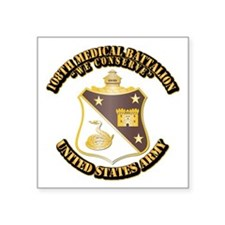 DUI - 108th Medical Battalion With Text Square Sti