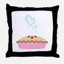 Pie Hearts Throw Pillow