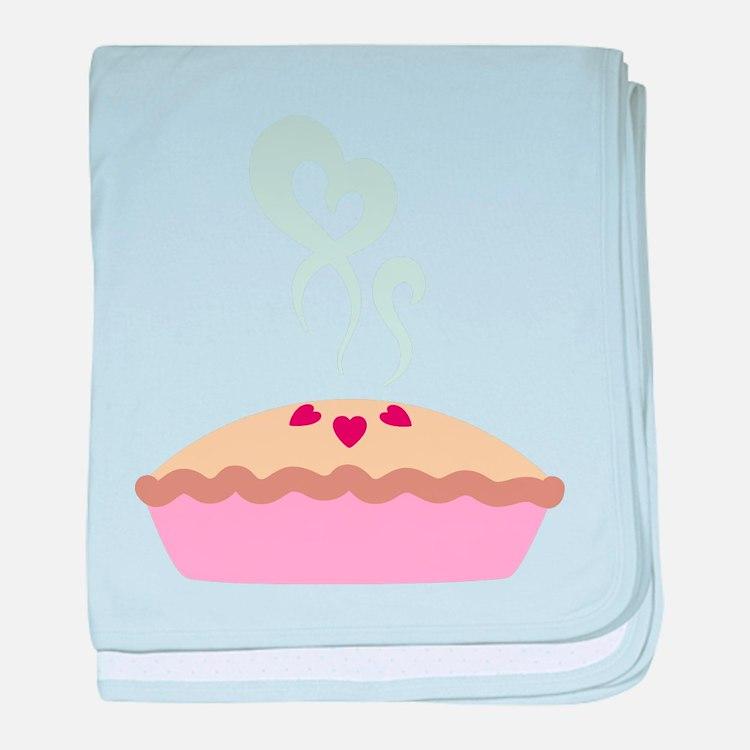 Pie Hearts baby blanket