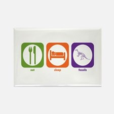 Eat Sleep Fossils Rectangle Magnet