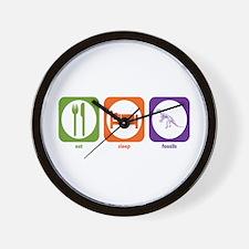 Eat Sleep Fossils Wall Clock
