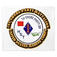 USMC - 1st Shore Party Battalion with Text King Du