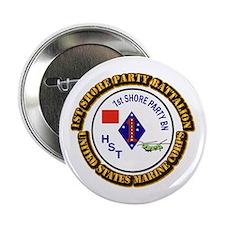 "USMC - 1st Shore Party Battalion with Text 2.25"" B"
