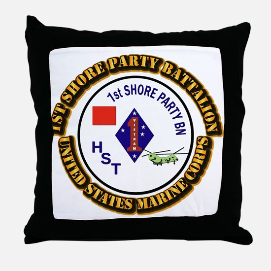 USMC - 1st Shore Party Battalion with Text Throw P