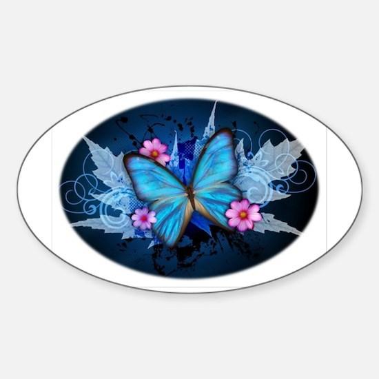 blue butterfly Bumper Stickers