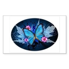 blue butterfly Decal