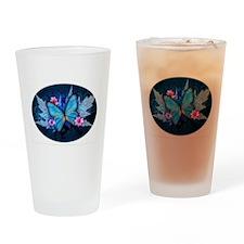 blue butterfly Drinking Glass