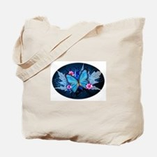 blue butterfly Tote Bag