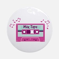 Mix Tape Music Notes Ornament (Round)