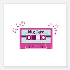 """Mix Tape Music Notes Square Car Magnet 3"""" x 3"""""""