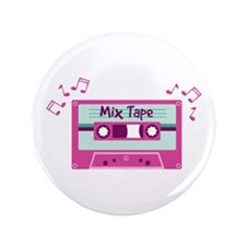 "Mix Tape Music Notes 3.5"" Button"