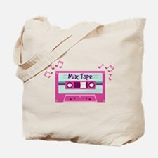 Mix Tape Music Notes Tote Bag