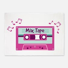 Mix Tape Music Notes 5'x7'Area Rug