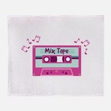 Mix Tape Music Notes Throw Blanket