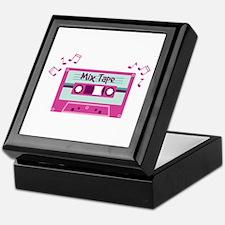 Mix Tape Music Notes Keepsake Box