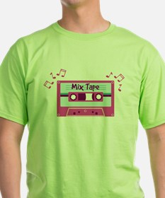 Mix Tape Music Notes T-Shirt