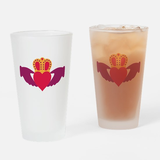 Claddagh Heart Crown Drinking Glass