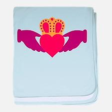 Claddagh Heart Crown baby blanket