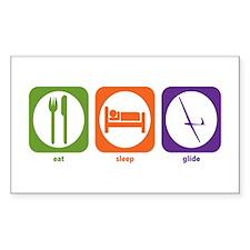 Eat Sleep Glide Rectangle Decal