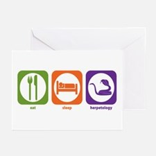 Eat Sleep Herpetology Greeting Cards (Pk of 10