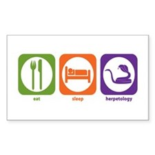 Eat Sleep Herpetology Rectangle Decal