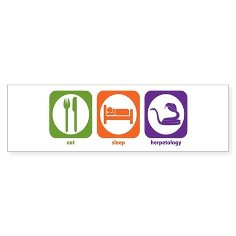Eat Sleep Herpetology Bumper Sticker