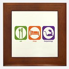 Eat Sleep Herpetology Framed Tile