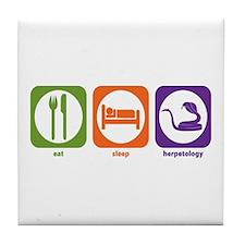 Eat Sleep Herpetology Tile Coaster